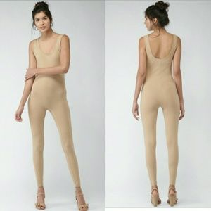 Forever 21 Nude Tan Jumpsuit Size Large NWT